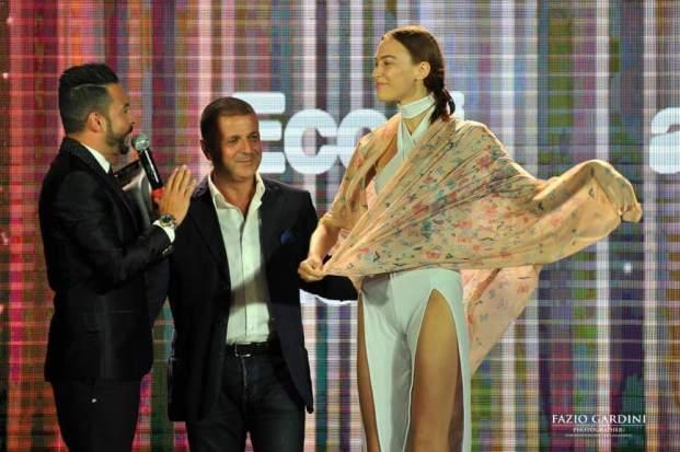 Da sx_Anthony Peth_Calo Alberto Terranova_la top model internazionale presente alla serata