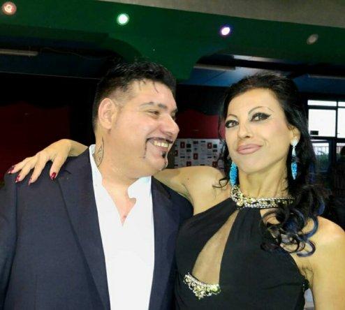 Il regista Mario Cosentino con l'attore francese Eebra Toorè