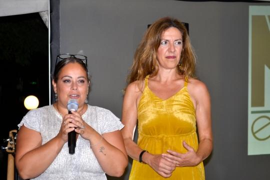 Lidia Sassone de La Coccinella con Maria Lucia De Sica madrina solidale della serata