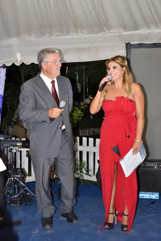Luciano Bruschini con Lisa Bernardini Presidente dell'Occhio dell'Arte