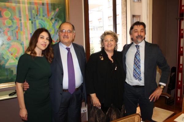 1. La Fashion Manager Gabriella Chiarappa - presidente mancini direttore generale Livreri e l'Imprenditore Luigi Antinori