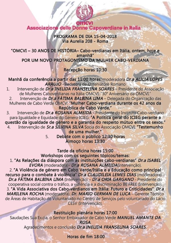programma evento 15 aprile versione portoghese