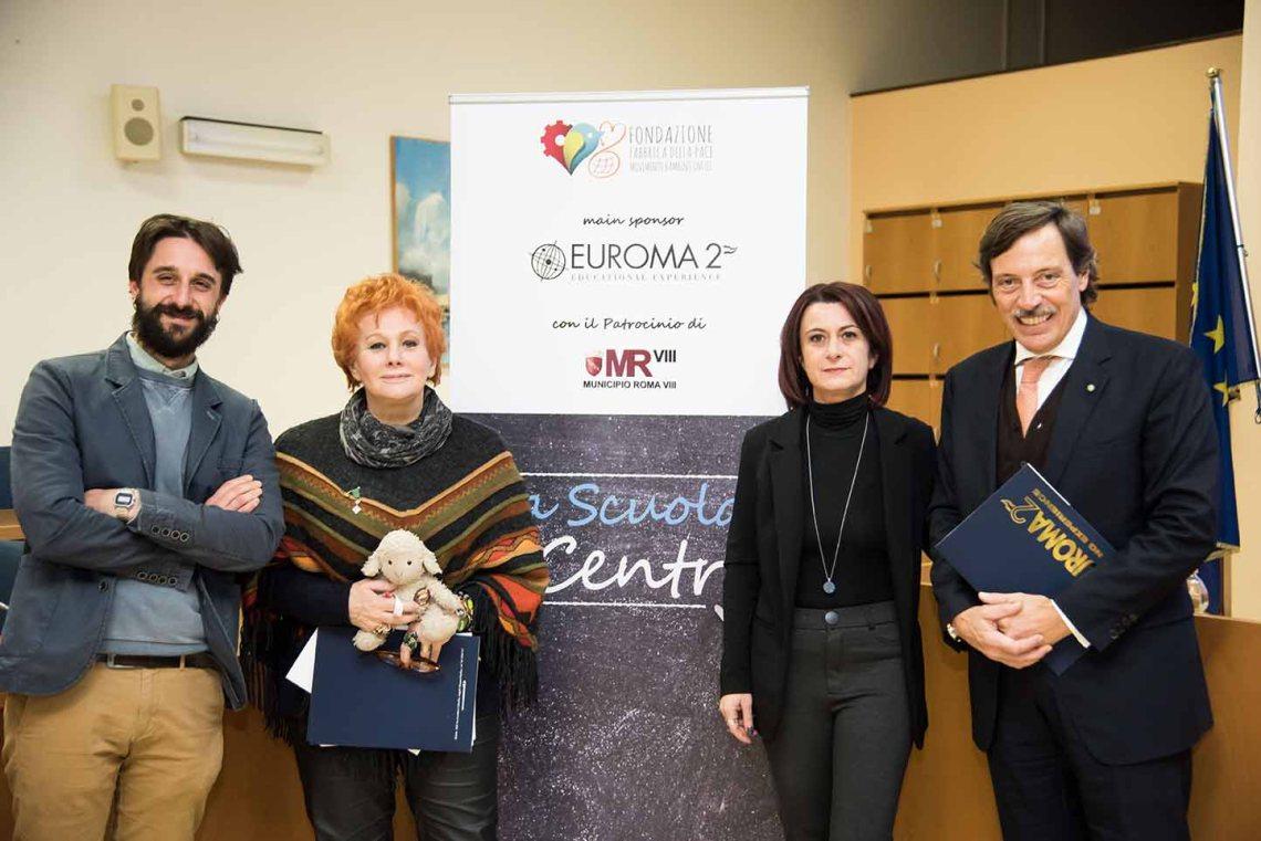 Da sinistra Presidente Ciaccheri, Prof.ssa Parsi Dott.ssa Vetrugo e Presidente Euroma2 ZanchiWEBlight