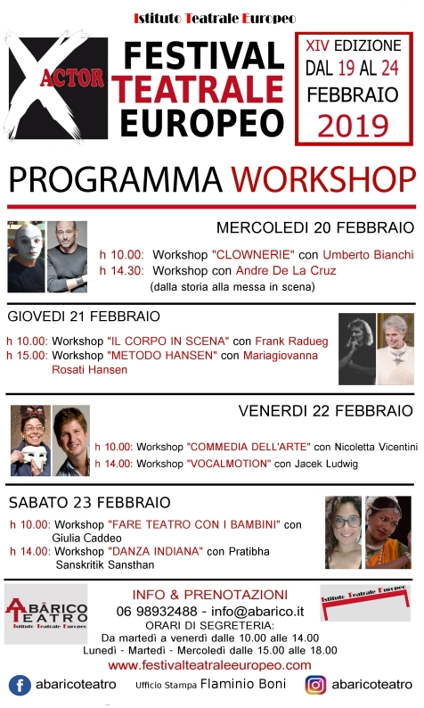 programma workshop x actor