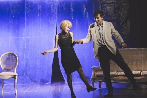 OFFOFFTheatre_Processo a Fellini-Caterina Gramaglia e Giulio Forges Davanzati.Foto Frida Miranda