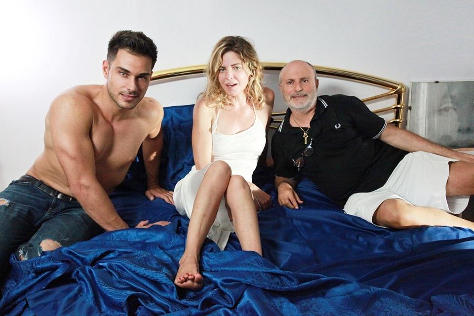 Simone Amato, Pellini e Campanella sul set